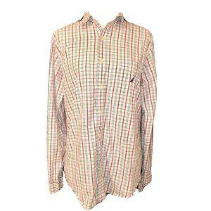 Nautica Long Sleeve Button Down Casual Dress Shirt